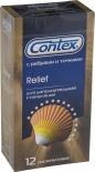 Презервативы Contex Relief с ребрами и точками 12шт