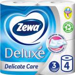 Туалетная бумага Zewa Deluxe Белая 4 рулона 3 слоя