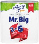 Бумажные полотенца Мягкий знак Mr. Big 2 рулона 2 слоя