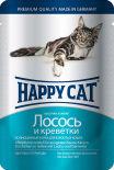 Корм для кошек Happy Cat Лосось и креветки 100г