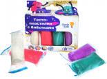 Набор для детской лепки Genio Kids Тесто-пластилин с блестками 4 цвета 120г