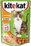 Корм для кошек Kitekat с курицей в соусе 85г