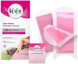 Полоски для депиляции Veet Easy Gelwax восковые для нормальной кожи 12шт