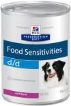 Корм для собак Hills Prescription Diet при аллергии с уткой 370г
