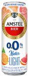 Напиток пивной Amstel Апельсин Грейпфрут безалкогольный 0.0% 0.43л