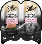 Корм для кошек Sheba Perfect Portion паштет с лососем 2шт*37.5г