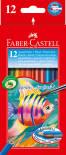 Набор для рисования Faber-Castell акварельные карандаши 12 цветов + кисточка