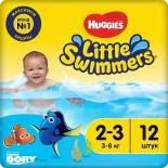 Подгузники-трусики Huggies Little Swimmers №2-3 3-8кг 12шт