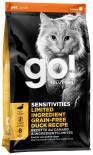 Сухой корм для кошек Go! при чувствительном пищеварении с уткой 1.36кг