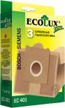 Мешок-пылесборник EcoLux Extra EC 401 бумажный для пылесосов Bosch Siemens 3шт