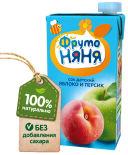 Сок ФрутоНяня Яблоко-персик с 3 лет 500мл
