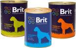 Набор корма для собак Brit Корм Говядина и печень 850г + Корм Говядина и сердце 850г + Корм Говядина Рис 850г