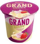 Пудинг молочный Grand Dessert Белый шоколад с клубничным муссом 6% 200г