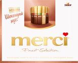 Набор шоколадных конфет Merci Ассорти с начинкой из шоколадного мусса 210г
