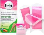 Полоски для депиляции Veet Naturals восковые с маслом ши 10шт