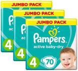 Подгузники Pampers Active Baby-Dry 9–14кг Размер 4 70шт