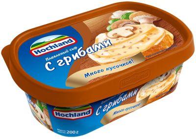 Сыр плавленый Hochland с грибами 55% 200г