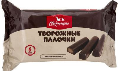 Творожные палочки Свитлогорье глазированные с какао 23% 180г