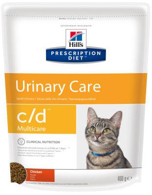 Сухой корм для кошек Hills Prescription Diet c/d для лечения и профилактики МКБ с курицей 400г
