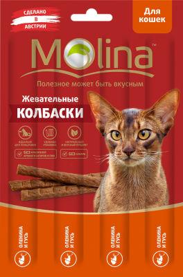 Лакомство для кошек Molina Оленина-гусь 20г