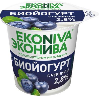 Биойогурт ЭкоНива с черникой 2.8% 125г