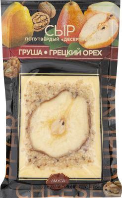 Сыр Amyga Десертный с грушей и грецким орехом 45% 150г