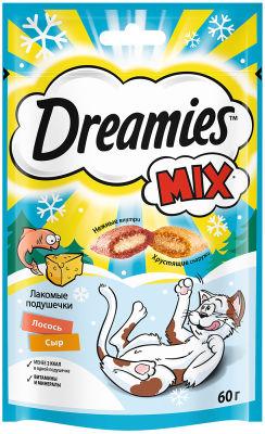 Лакомство Dreamies Mix с лососем и сыром для взрослых кошек 60г