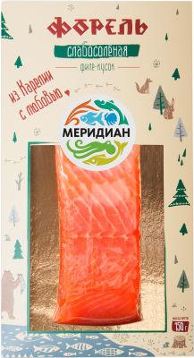 Форель Меридиан слабосоленая филе-кусок 150г