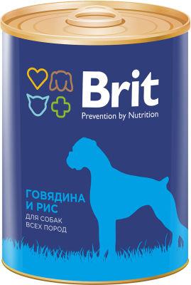 Корм для собак Brit Говядина Рис 850г