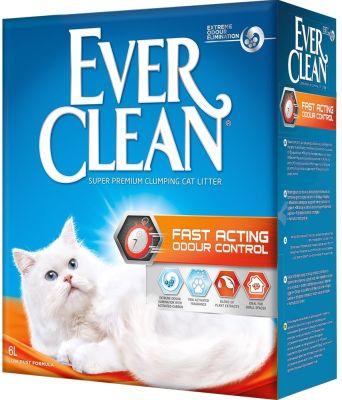 Наполнитель для кошачьего туалета Ever Clean Fast Acting Мгновенный контроль запахов 6л