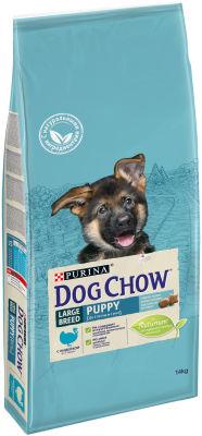 Сухой корм для щенков Dog Chow Large Breed Puppy с индейкой 14кг