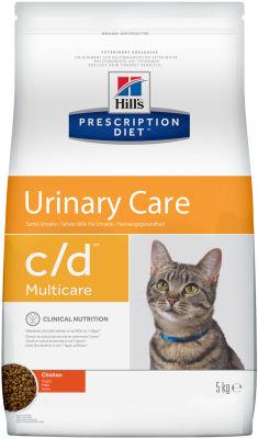 Сухой корм для кошек Hills Prescription Diet c/d для лечения и профилактики МКБ с курицей 5кг